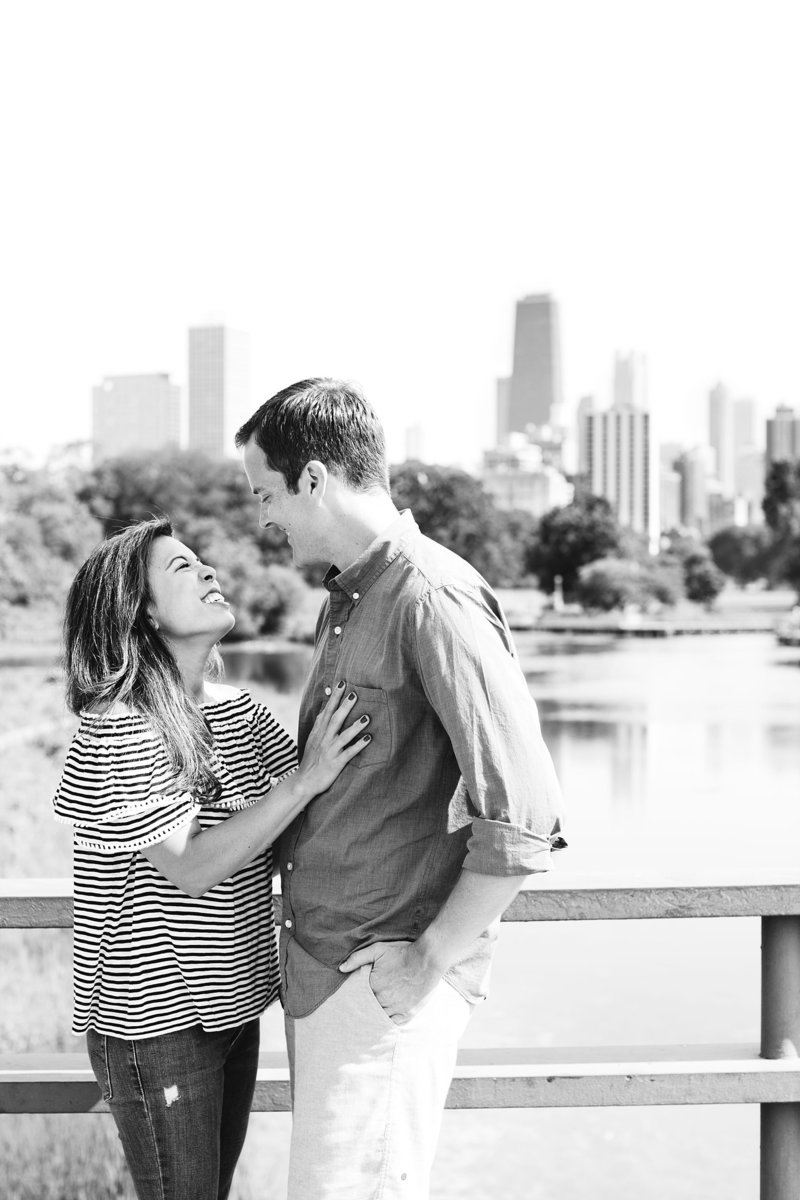 Lincoln Park Engagement Photographer at the Honeycomb