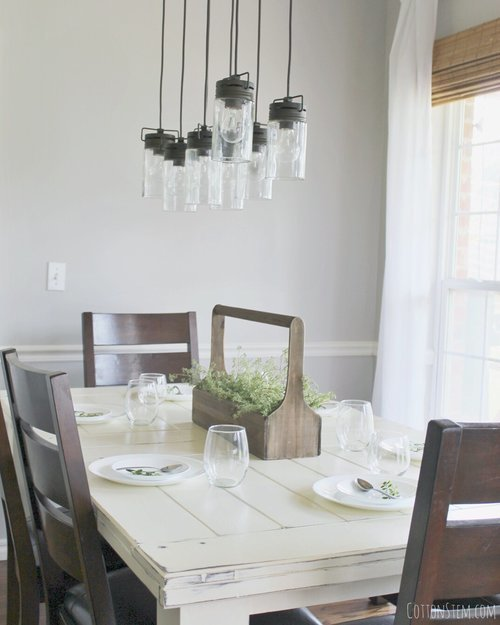 farmhouse-dining-room-table-white-industrial-pendant-fixture-light-2