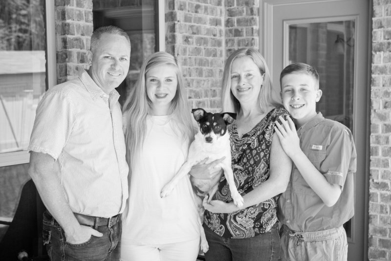 Family portrait of Puckett family in Mobile, Alabama.