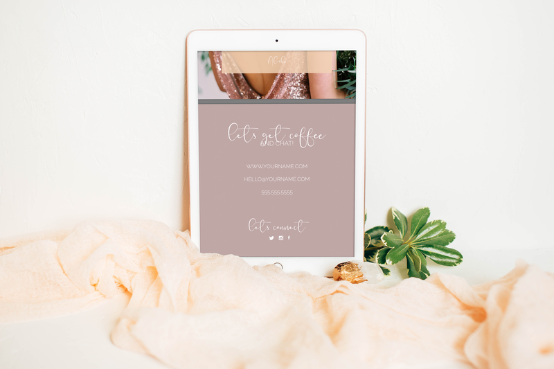 The Olivine Collective || Marketing Materials || Blush & Brush || Marketing Template for Wedding Hair & Makeup Artist