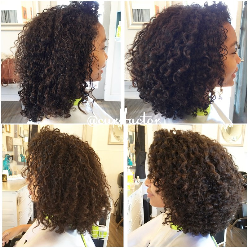 Deva cut and Pintura at LunaBella Salon in Santa Barbara, CA