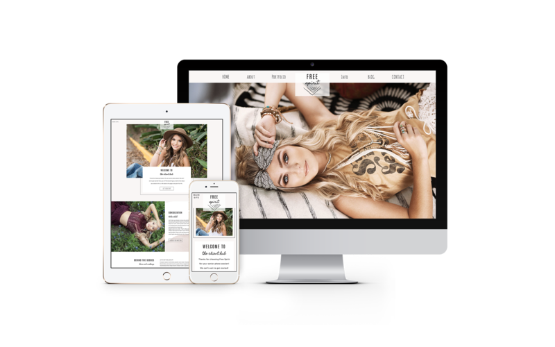 Easy to customize drag and drop Showit website templates for senior photographers