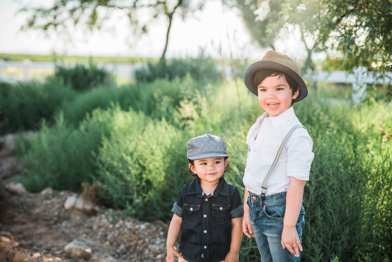 Caleb and Aiden on a typical day | Tucson Wedding Photographer | West End Photography