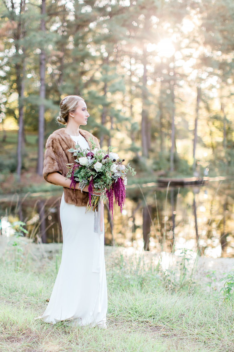 East Texas bride and bouquet