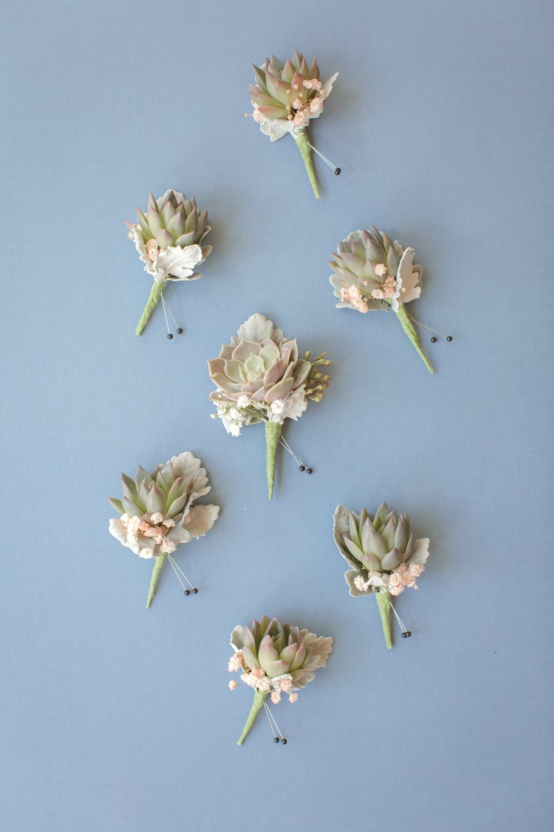 Boutonnieres by Laurelwood Designs