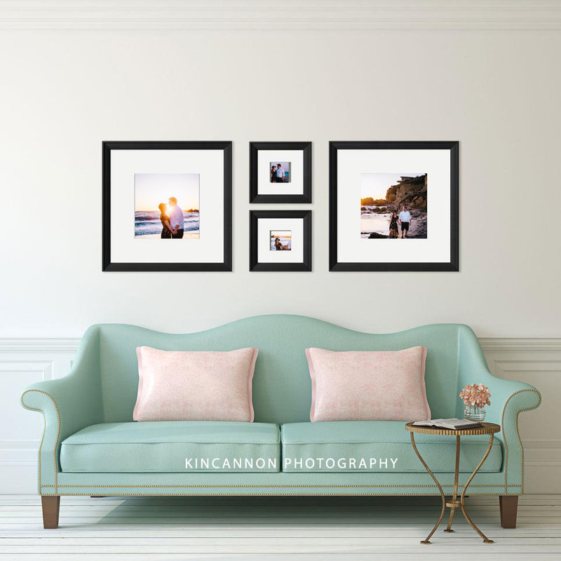 wall gallery teal couch