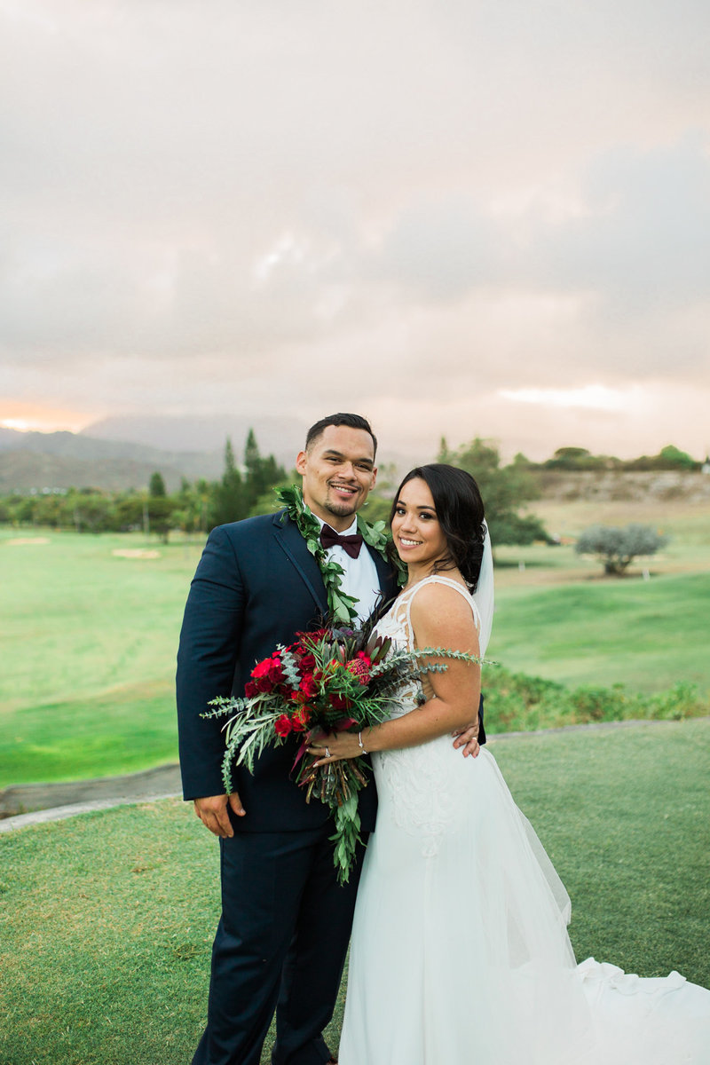 Sunset Elopement at Lanai Lookout Hawaii
