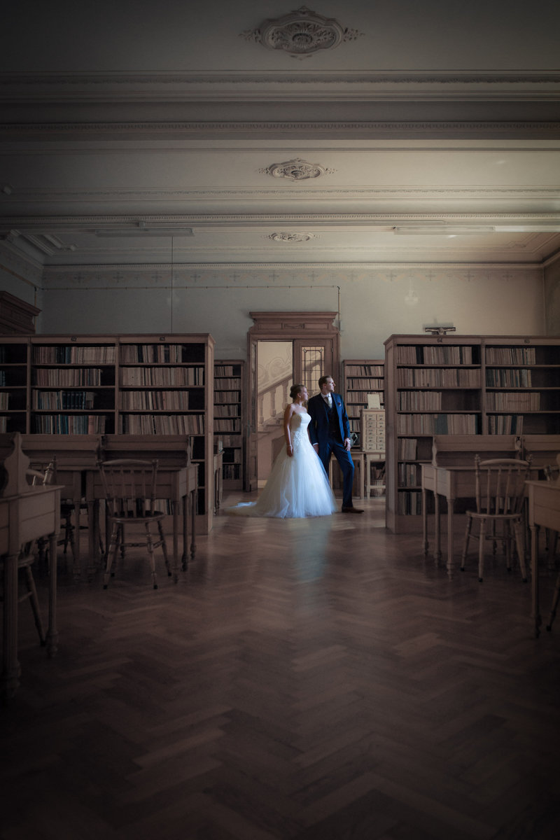 Salons van Dijck huwelijk Caroline en Pieter shoot foto