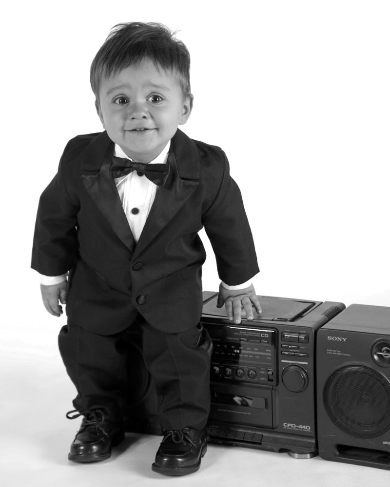 Toddler portrait with radio-16