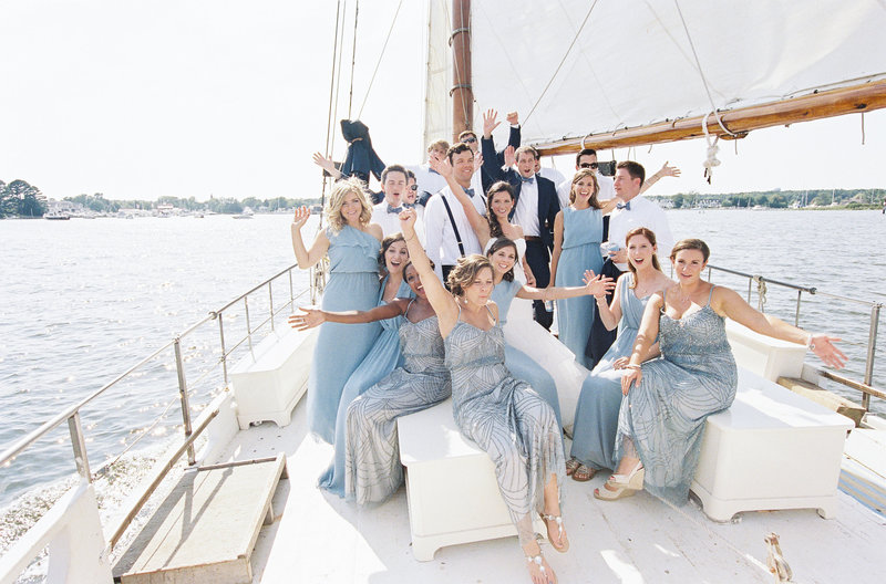 Chesapeake Bay Wedding Party St Michaels