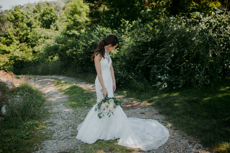 Bride in Vera Wang gown