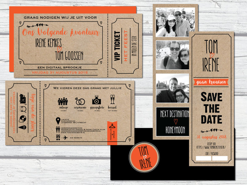trouwticket-save-the-date-kraft