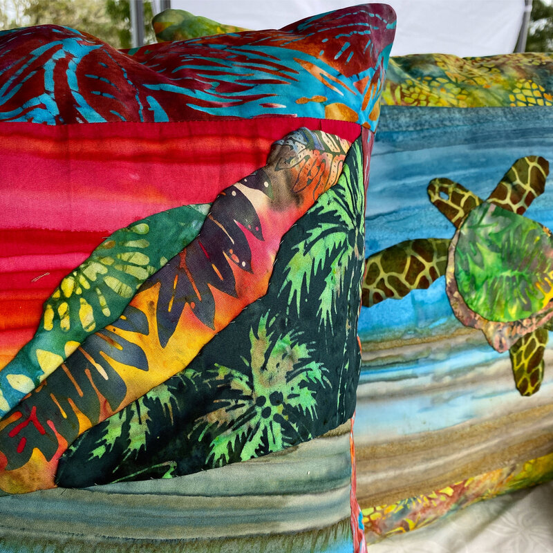 Tropical quilts, paintings and crafts