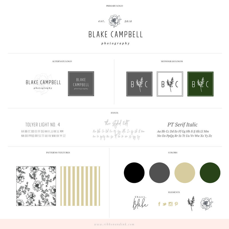 premade-brand-for-creatives-photographers-planners-premade-logo-template-semi-custom-brand-ribbon-and-ink-blake-campbell