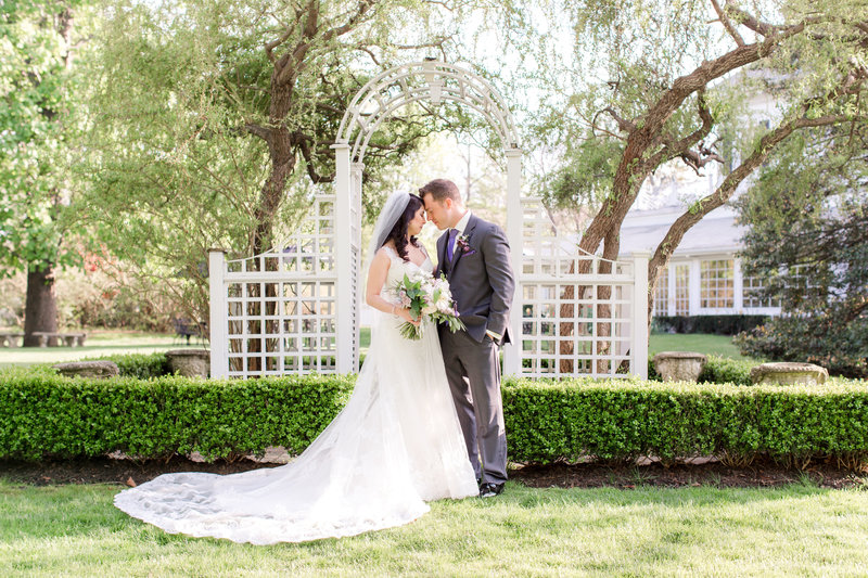 Romantic bride and groom photo at Shadowbrook
