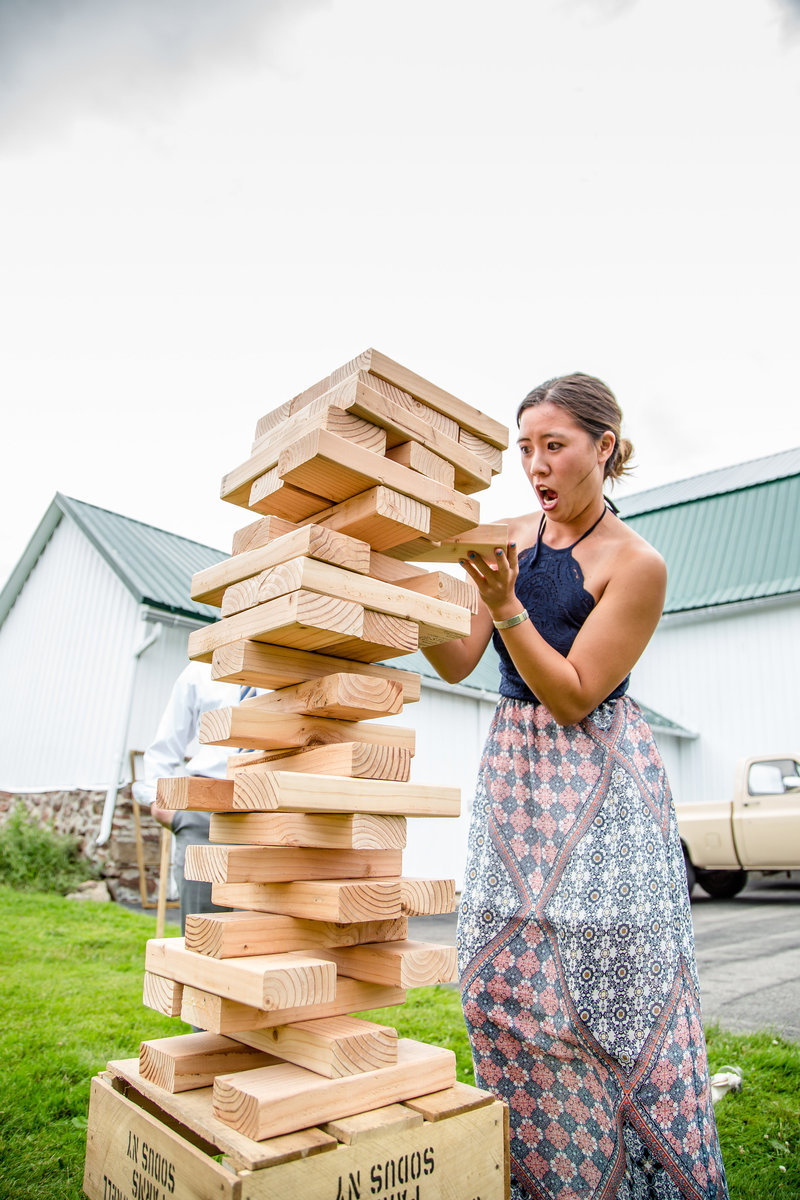 87 wedding photography reception jenga