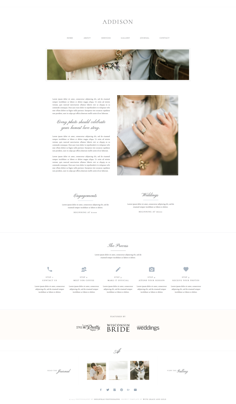 03 - Services - Addision - With Grace and Gold - Branding, Web Design, and Education for Creative Women in Business - Showit Design, Designs, Designer, Designers, Theme, Themes, Template, Templates - Photo