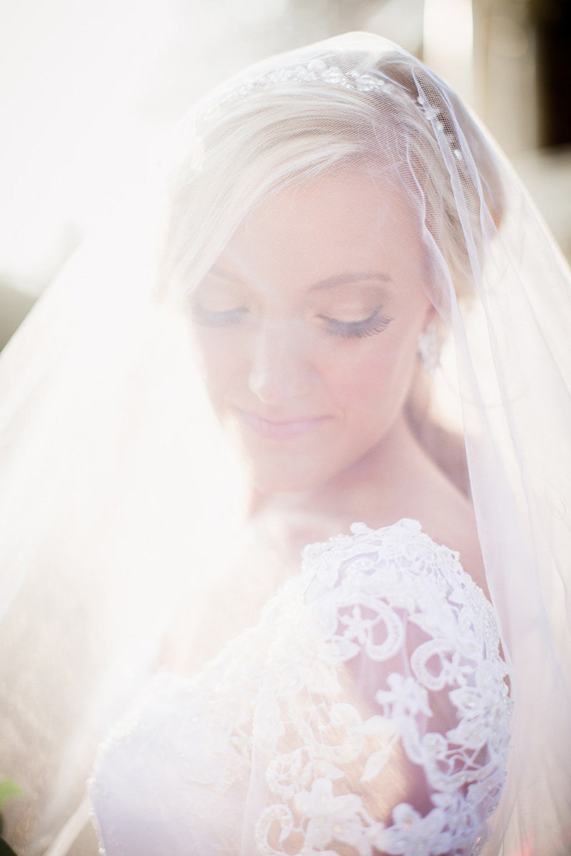 Close up of veil over the bride's face at Historic Westwood Wedding Venue by Knoxville Wedding Photographer, Amanda May Photos.