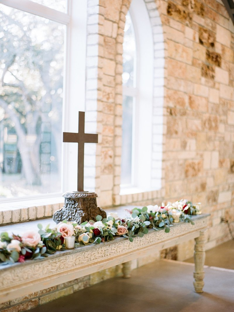White outdoor chapel in Texas