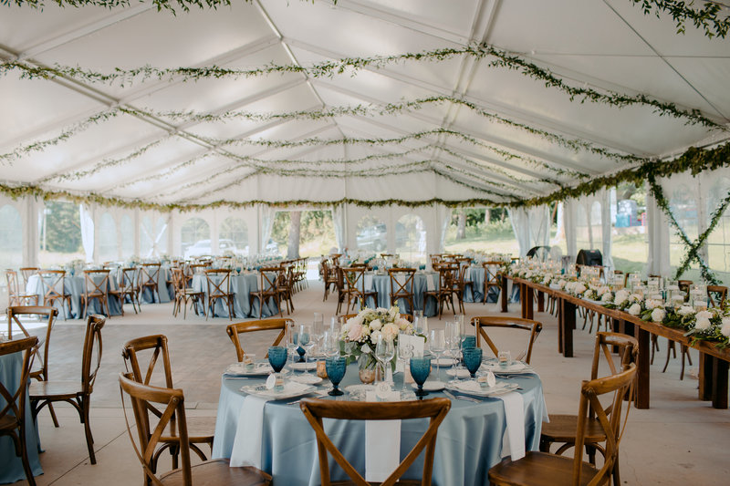 Tented reception at Felt Mansion
