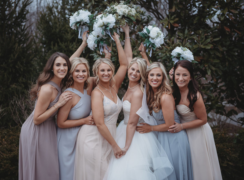 bridesmaids spring wedding