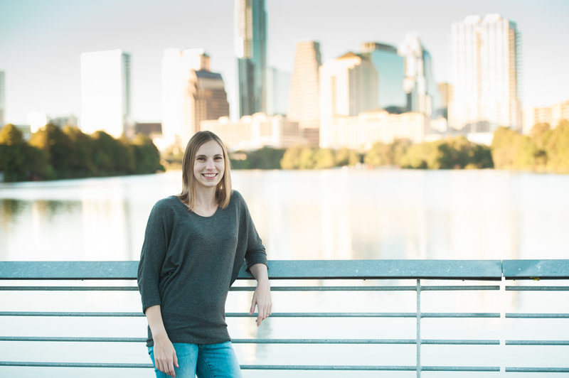 Austin Family Photographer, Tiffany Chapman, portrait with skyline photo