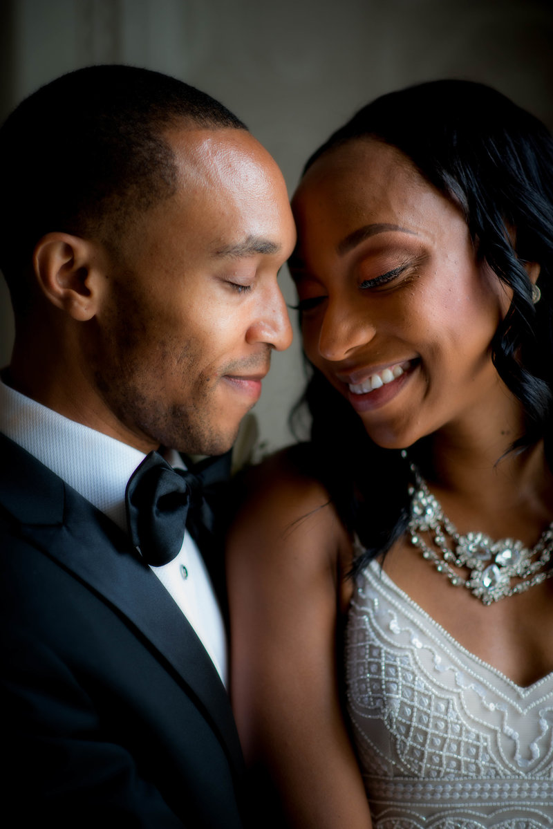 Bride and Groom at Hotel Monaco, Washington Dc Wedding