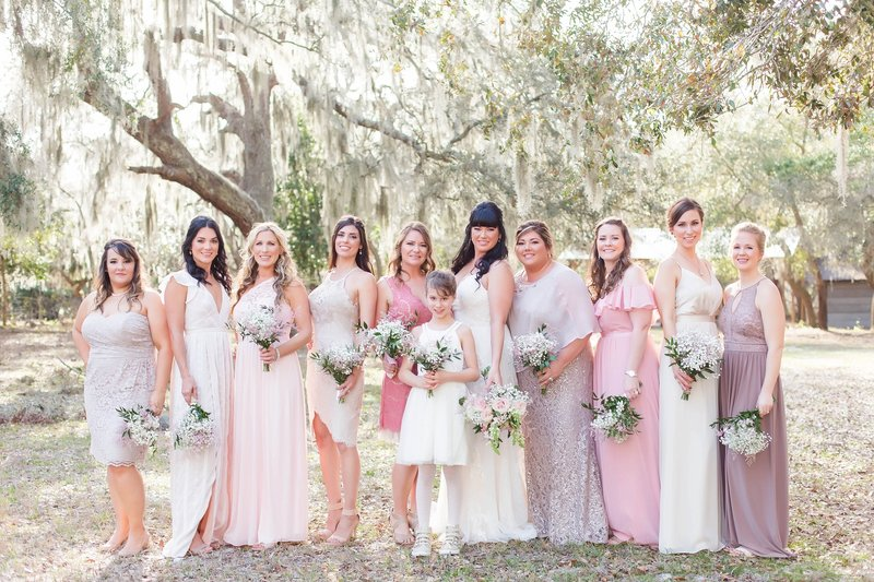 bridesmaid wedding photos