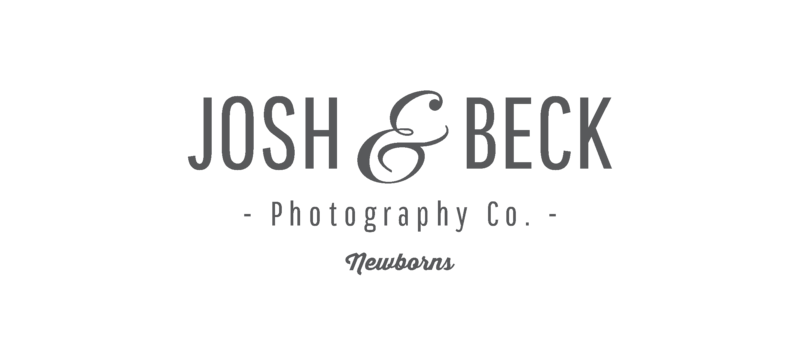 Josh and Beck Newborn Logo (Grey)