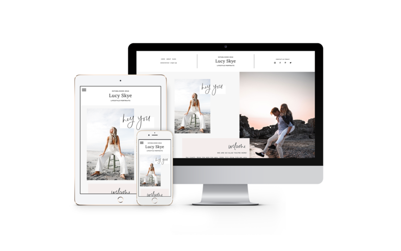 Lucy Skye ProPhoto 7 Website Template for bloggers