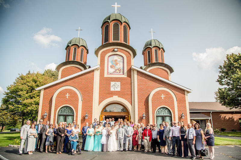 7 wedding photography Family Outside Church