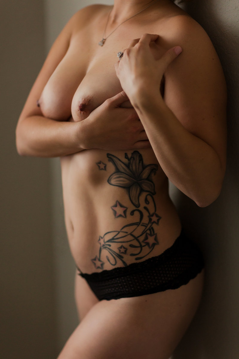 Topless Boudoir | Tattoos and Boudoir Photography