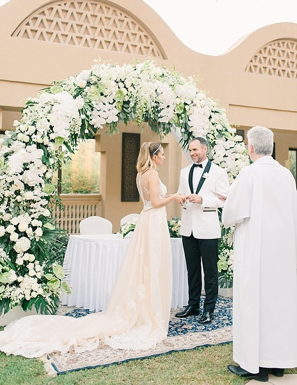 Maria Sundin Photography_white tux wedding ceremony dubai