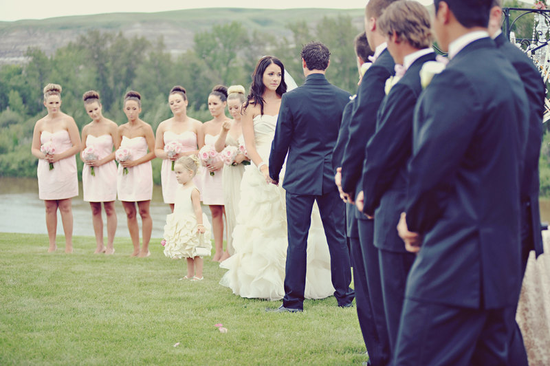 Calgary outdoor wedding ceremony