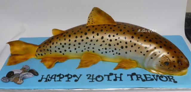 3d carved trout