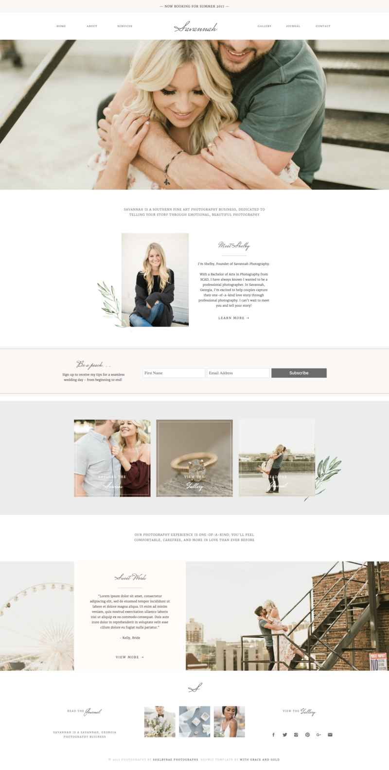 01 - Home - With Grace and Gold - Branding, Web Design, and Education for Creative Women in Business - Showit Design, Designs, Designer, Theme, Themes, Template, Templates