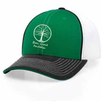 green white ball cap