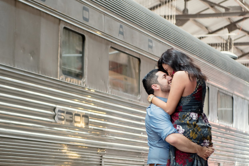 Gold Coast Railroad Museum Engagement Session