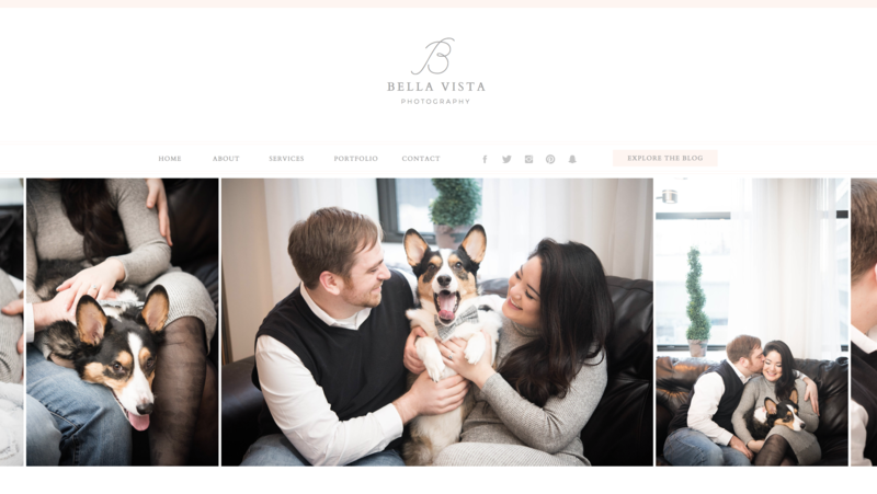 Bella Vista - With Grace and Gold - Branding, Web Design, and Education for Creative Women in Business - Home Page