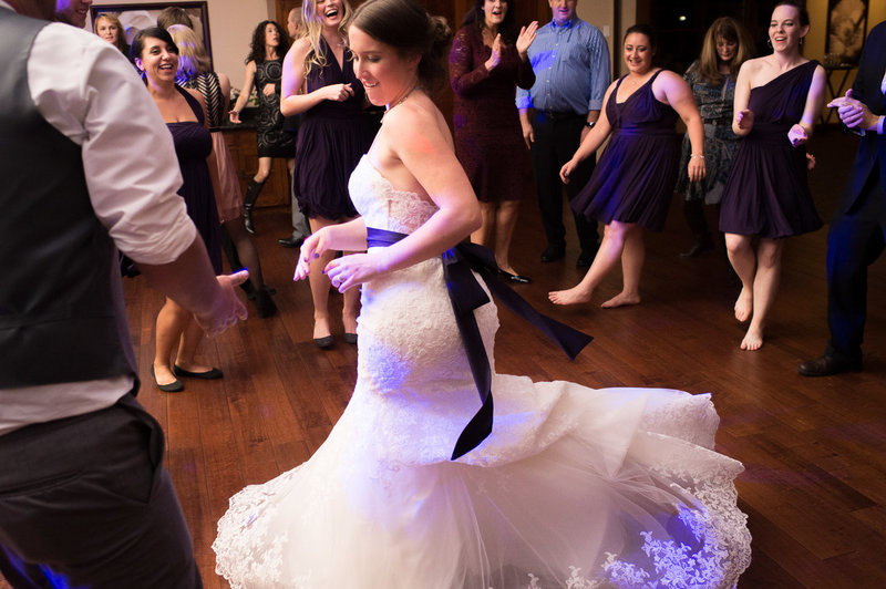 Dancing at the reception in Five Pines by Pete Erickson Photography.