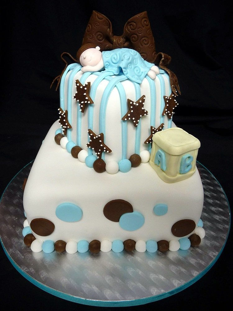 baby square shower cake