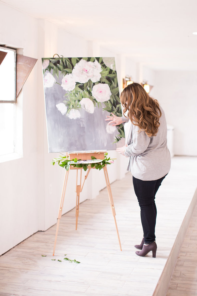 Floral Painting By Brittany Branson