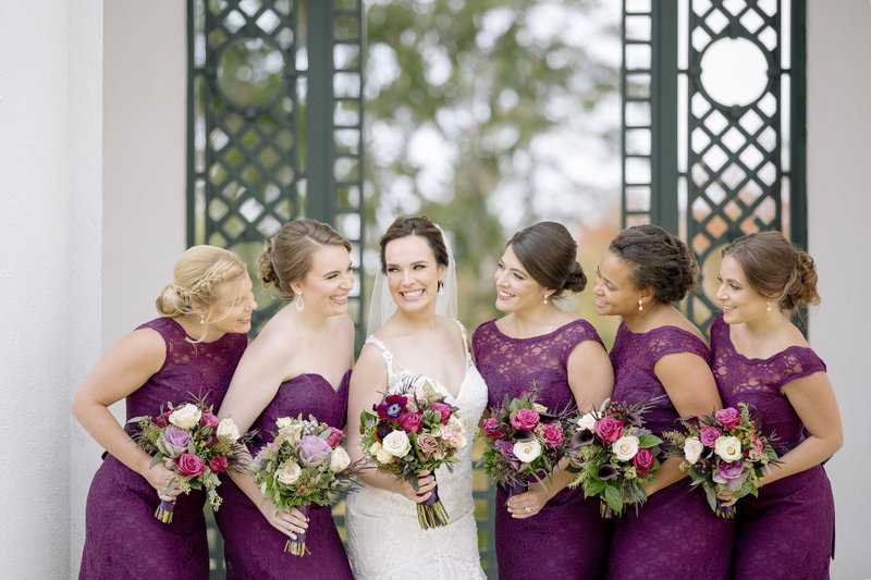 bridesmaids laughing at Monmouth University