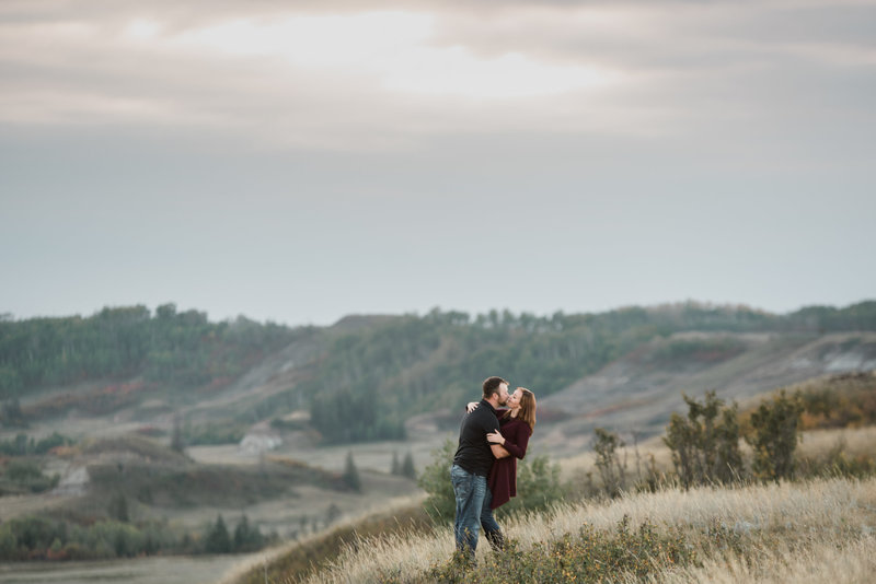 Red Deer Photographers-Raelene Schulmeister Photography- engagement photos-forestburg engagement photos in a coulee