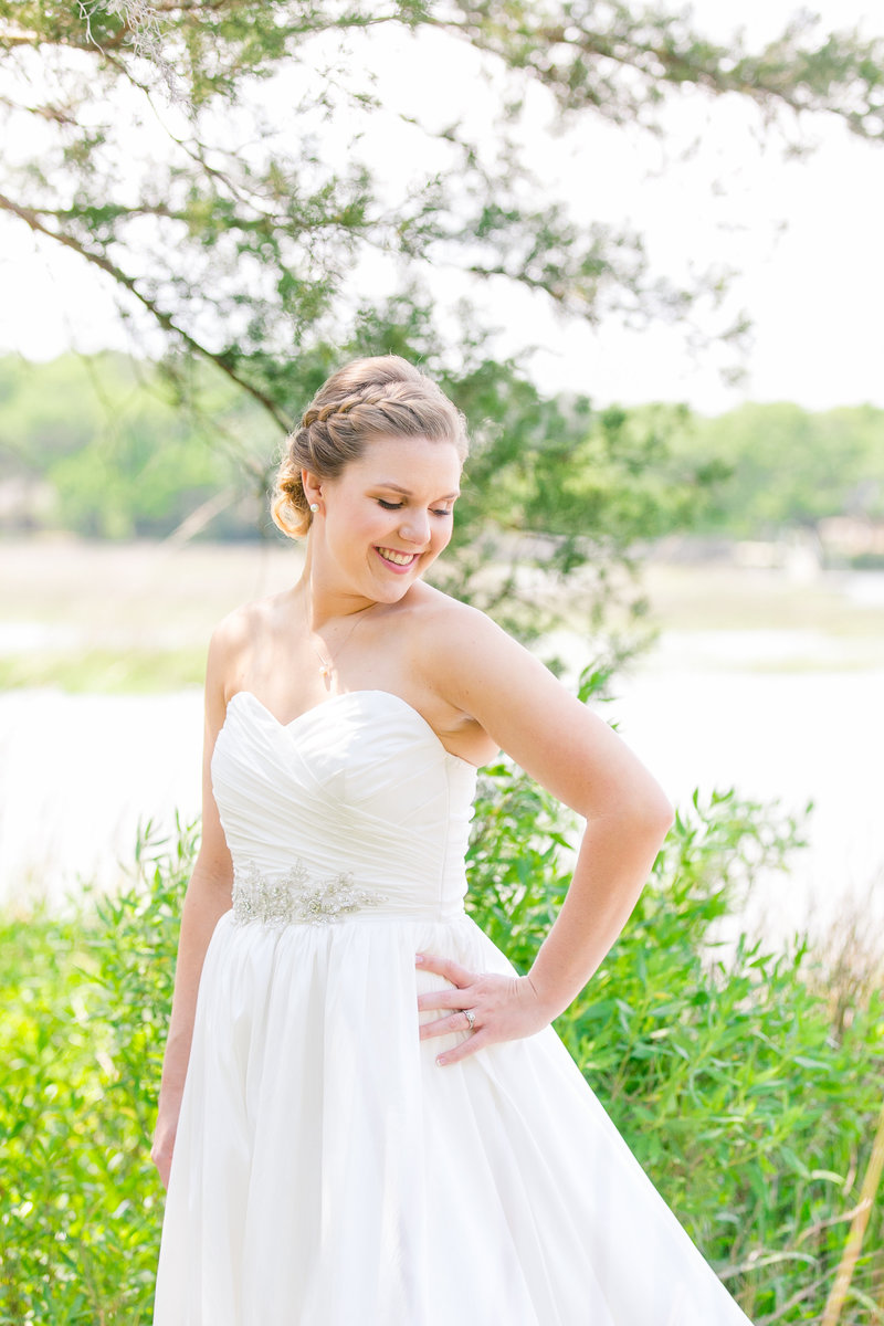 Boone Hall Marsh Bridal Portraits