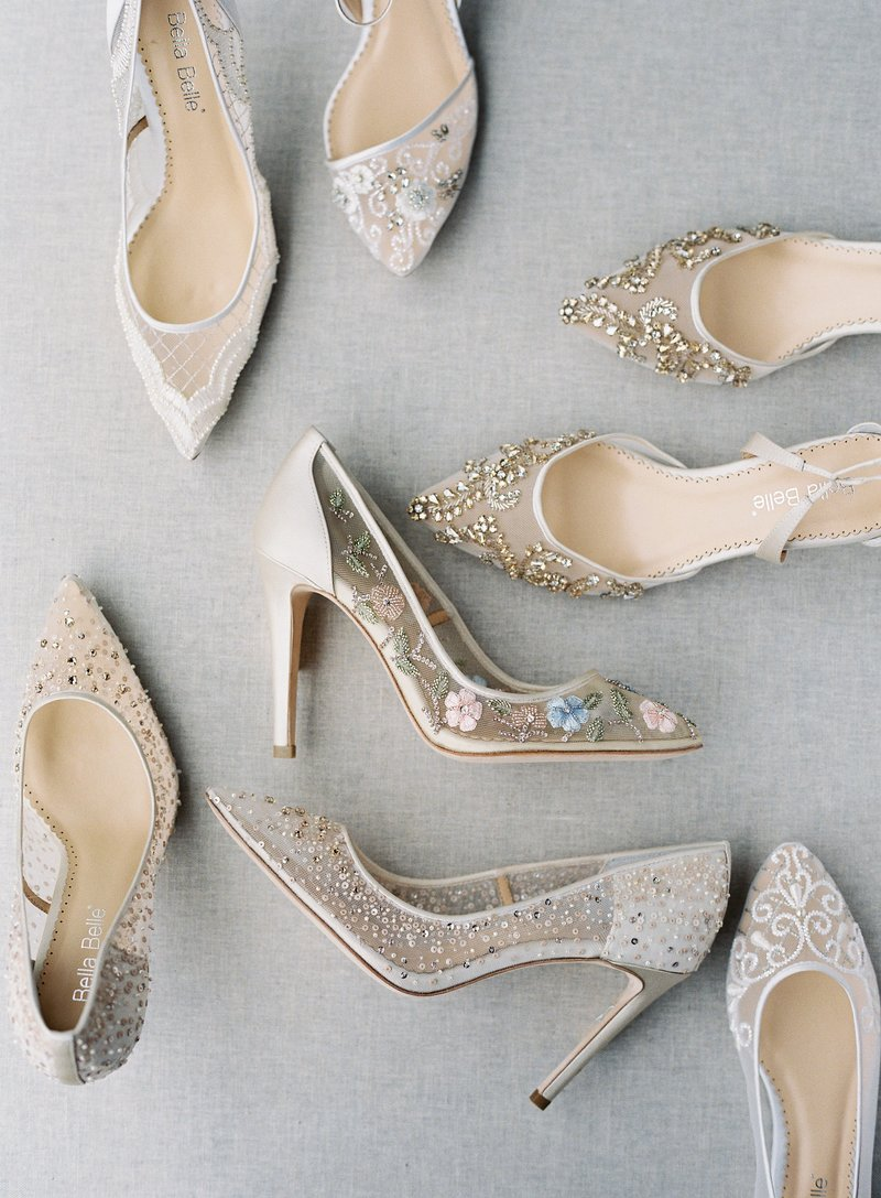 ae05077c016 Bella Belle creates heirloom bridal shoe collections with feminine  silhouettes and intricate details. FLORA will