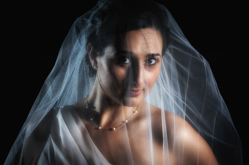 Bend Oregon bride lit with a Profoto light by Pete Erickson Photography.