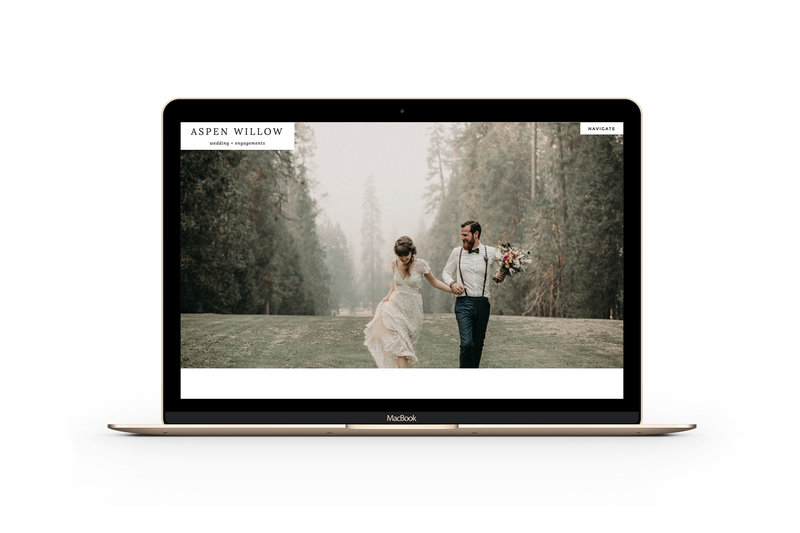 Easy to customize drag and drop website templates for wedding photographers