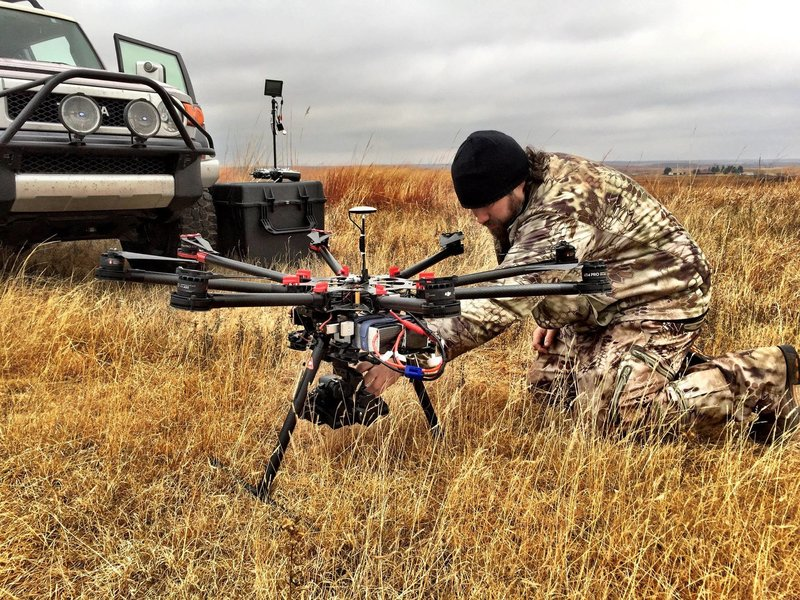 In the field with Raven 6 Studios while getting the s1000 prepared to film aerials in Kansas