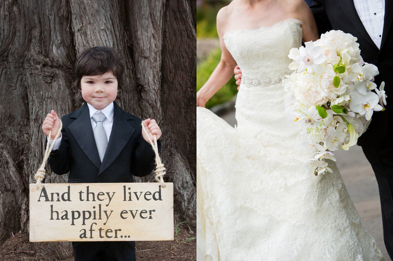 Ring bearer, and they lived happily ever after, bride and groom, Jennifer Baciocco Photography